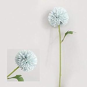 Artificial and Dried Flower Silk Flower Chinese Mum Rare Perennial Flower Chrysanthemum Plant Mix Color Silk Flower Artificial Flower – ( Color: Light Blue )