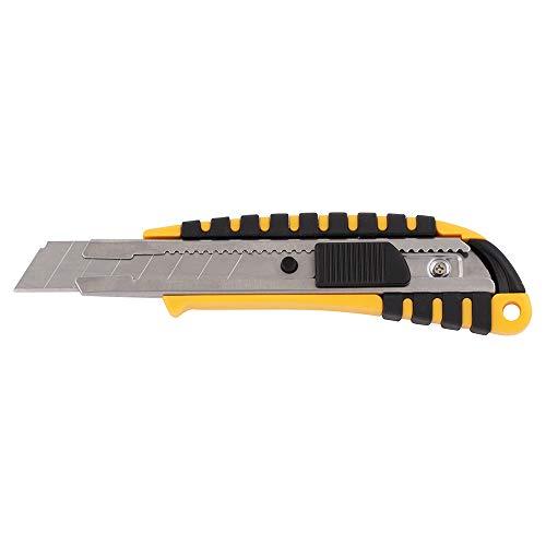 D.RECT 2048 Cuttermesser mit Metallführung Klinge 18mm mit gummiertem Griff Teppichmesser Universalmesser Profi Cutter/Messer