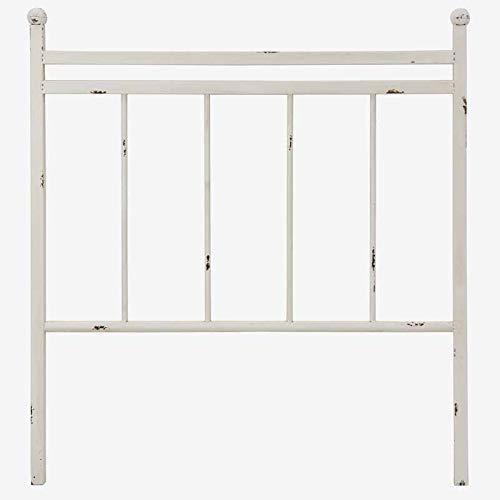 Better & Best 1409002 Cabecero cama de 90 barrotes hierro blanco de hierro, color: blanco