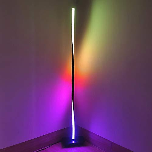 Crayom Lámpara de pie LED con Cambio de Color Remoto Ambiente de luz de pie Luz de Piso Moderna Regulable para Sala de Estar Decoración de la habitación de los niños 123CM / 48.42 Pulgadas de Altura
