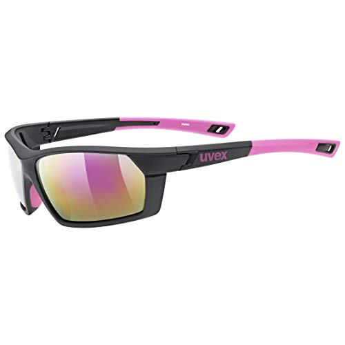 uvex Sportstyle 225, Occhiali Sportivi Unisex Adulto, Black Pink Mat/Pink, one size