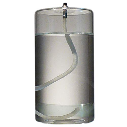 5-Inch Refillable Glass Pillar Candle - Liquid Candles are The Latest Trend in Candle Lighting
