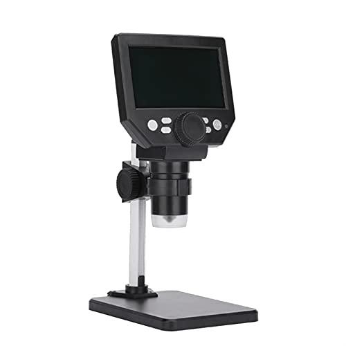 XXJIC Microscopio Digital LCD, 4.3 Pulgadas 1x-1000x Ampliación Zoom HD 1080p 12 megapíxeles Compuesto Microscopio USB 8 Ajustable LED luz de Video de Video microscopio