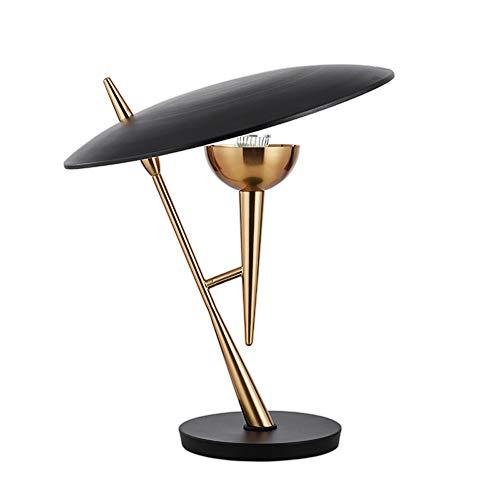 Lighfd Postmoderne Light Luxe Table Lamp, Simple Creatie van Black decoratieve tafel lamp op het nachtkastje van Living Room Slaapkamer, Plug In Lighting