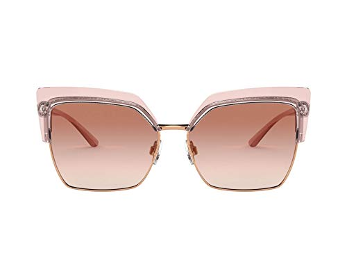 Dolce & Gabbana Gafas de Sol DOUBLE LINE DG 6126 TRANSPARENT PINK/PINK SHADED 60/14/140 mujer