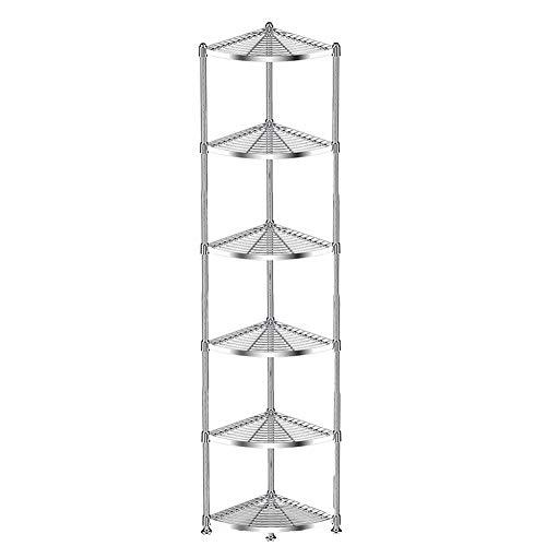 HTZ Standregale, Küche Wohnzimmer Bad 304 Edelstahl-Multifunktions-fächerförmigen Eckregal, 3/4/5...