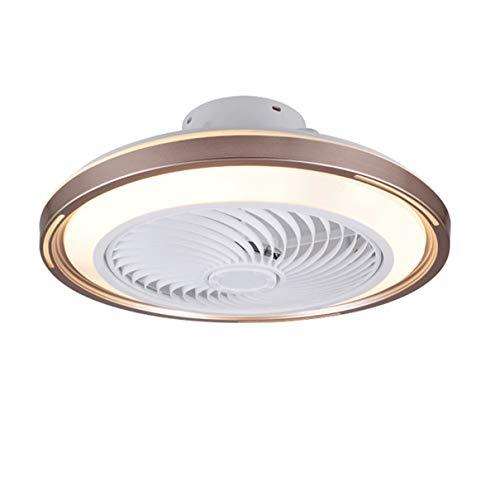 TATANE Invisible Techo Ventilador iluminación 72W Regulable LED Redondo Lámpara de Techo con Mando a Distancia Moderno Silenciar Ventilador Ligero para Sala Habitación Comedor Oficina Ø50CM,C