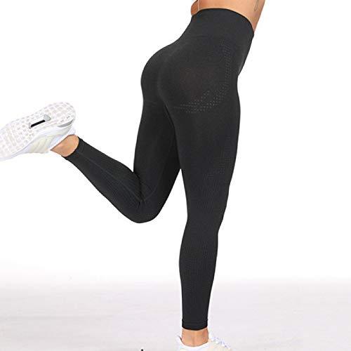 DMAIP Leggings Sin Costuras Vitales De Cintura Alta para Mujer, Pantalones De Yoga para Fitness, Mallas Deportivas Sexis con Empuje hacia Arriba, Mallas Elásticas para Correr
