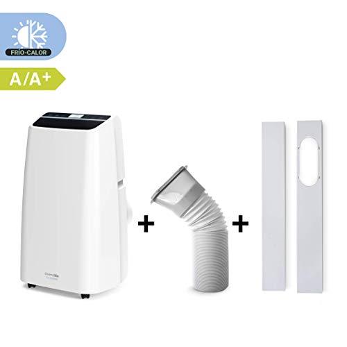 UNIVERSALBLUE Aire Acondicionado portátil | Pingüino 3000 Frigorías | Silencioso |Bajo Consumo| Bomba de Calor | Mando a Distancia
