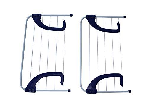 ARTECSIS 2er Set Wäschetrockner Wäscheständer für Balkon Heizung Camping jeweils 3m Trockenlänge