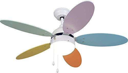 PARTAS Beleuchtung und Belüftung Deckenventilatoren 100 cm Innendeckenventilator, Deckenventilator Licht Kreative Warm Pendelleuchte for Kinder Raum Schlafzimmer Dekoration, bietet eine bequemen Wind