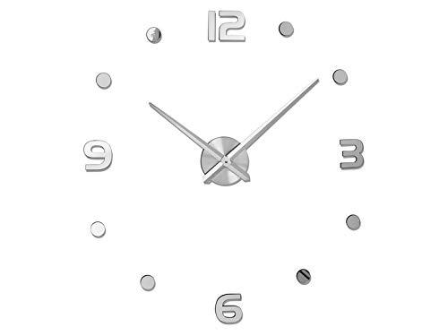 Auriol Reloj de pared XXL decorativo adhesivo moderno DIY DIY reloj de pared 90-120 cm