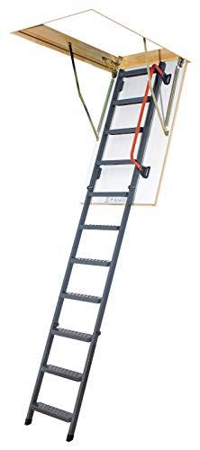 Gedämmte Bodentreppe, Speichertreppe, Dachbodentreppe mit LXL Abdeckleisten - Viele Größen und Modellen (LMK Komfort, 70 x 140 x 280 cm)