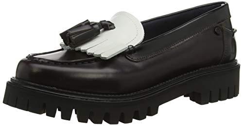 Tommy Hilfiger Damen Iconic Polished Loafer Pumps, Rot (RWB 020), 37 EU