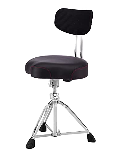 Pearl Roadster Drum Throne Seat Multi-Core Saddle Motorcycle Style with Backrest (D3500BR)