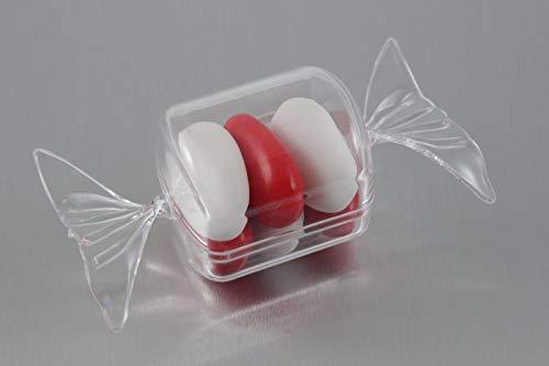Subito disponibile Stock 50 Pezzi Scatola in plexiglass per bomboniera Confetti a Forma di