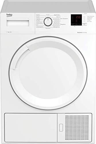 Beko DS73S2PA Kondenstrockner mit Wärmepumpentechnologie/elektronische Feuchtemessung/digitales Display/kombinierter Filtermechanismus/ 7 kg/A+/ nur 46 cm Korbusti, Weiß