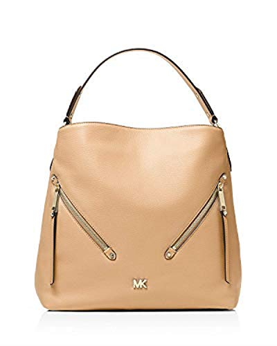 """100% Leather 2 Front Zip Pockets; Interior Details: Back Zip Pocket, 2 Slip Pockets, 6 Front Slip Pockets 14.5""""W X 12.75""""H X 5""""D truffle"""