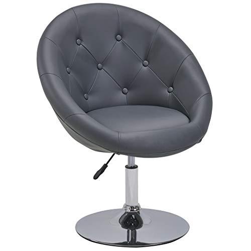 Sessel in Grau höhenverstellbar Kunstleder Clubsessel Coctailsessel Lounge Sessel Duhome 0335