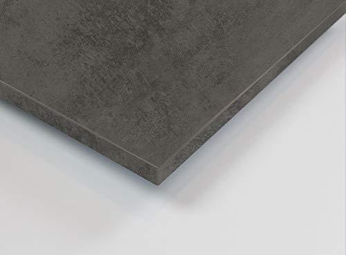 MySpiegel.de Tischplatte Holz Zuschnitt nach Maß Beschichtete Holzdekorplatte (120 x 60 cm, Beton dunkel)