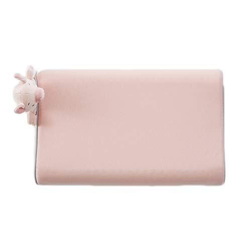 JUNBABY Oreiller Formant la tête de bébé, Coussin réglable pour Le Cou, pour Poussette, siège Auto, Design Ergonomique, Lavable, Taie d'oreiller-Pink-M