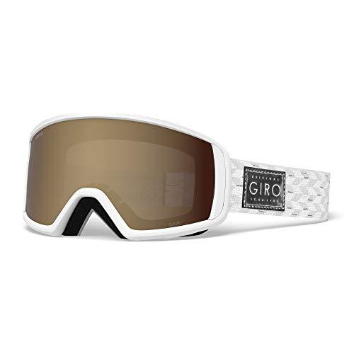 Giro Snow Damen Gaze Skibrille, White/Silver Shimmer Amber Rose, Einheitsgröße