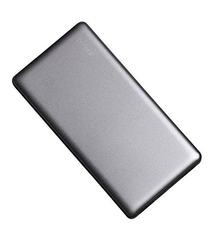 Denver PBS-10003 Powerbank, 10000mAh, 2x USB, Metall-Gehäuse Silber