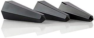 Aatm Natural Healing Gemstone Labradorite Tower Jumbo six Facet Set of 3 (33mm to 37mm)