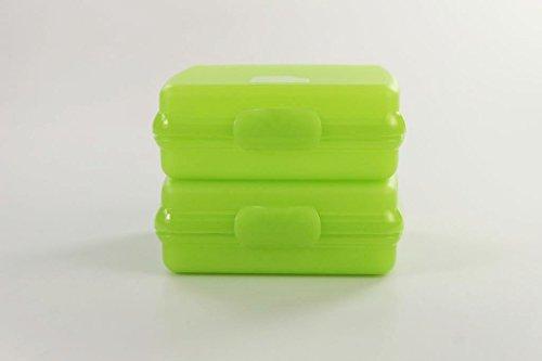 TUPPERWARE To Go Sandwich-Box limette (2) Brotbox Schule Pausenbrotbehälter A126