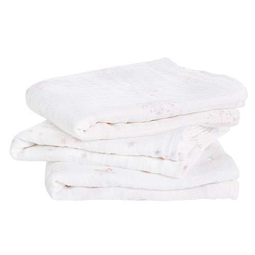 aden + anais langes musy, 100% mousseline de coton, 70cm x 70cm, pack de 3, lovely reverie