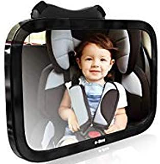 Baby Car Mirror for Rear Facing View of Back Seat. Glance into Rear View Mirror While Driving to See Baby.