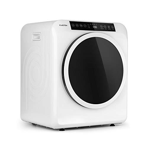 KLARSTEIN EZ Dry Secadora de Aire Caliente, Carga Frontal, 1500 W, Independiente/bajo encimera, 6 kg, 3 Niveles de Potencia, hasta 165 min de Funcionamiento, 6 programas, función Antiarrugas, Blanco