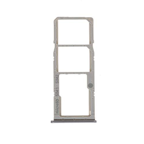 Nano-SIM-Kartenfach, 1 Sim-Kartenhalter, 2 Slots, Micro-SD-Kartenhalter, kompatibel mit Samsung Galaxy A51 A515F A515 / A71 A715F A715 SM-A715F (Silber)