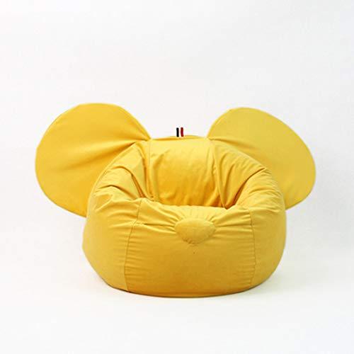 Bank GJDBBLY Kinderstoel Luie bank Zitzak Tatami Verwijderbaar meisje Jongensstoel Huis Binnen Zoals afgebeeld-1 Gele luie bank