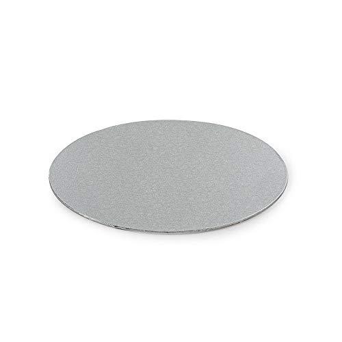 Decora 0931304 Cake Board Sottile, Cartone, Argento, 25 x 25 x 0.3 cm