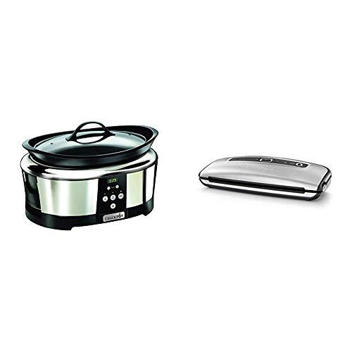 Crock-Pot SCCPBPP605 - Olla de cocción lenta digital + Foodsaver FFS015X - Envasadora al vacío