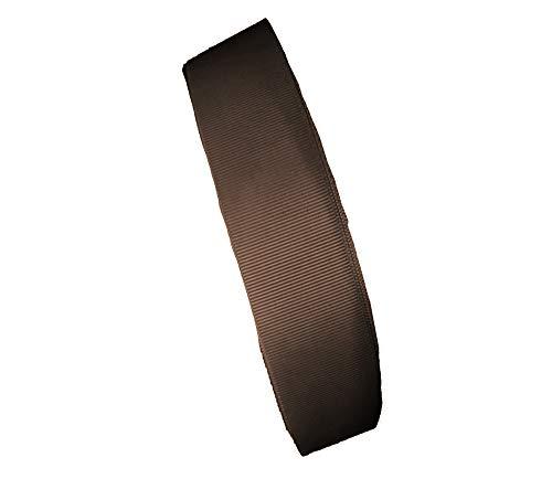 1M 3M 5Mカット 20MM巾グログランリボン MFFS1040 グログランテープ 裁縫 手芸用品 手芸材料 趣味 服飾 (5M, ブラウン)