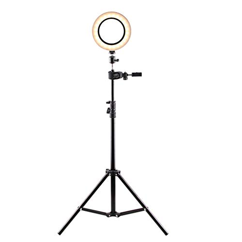 Hey Caterpillar LED-Ring-Fülllicht Lampe Selfie Kamera Telefon Studio Stativ Video dimmbar für Selfie/Online-Klasse/Live-Übertragung