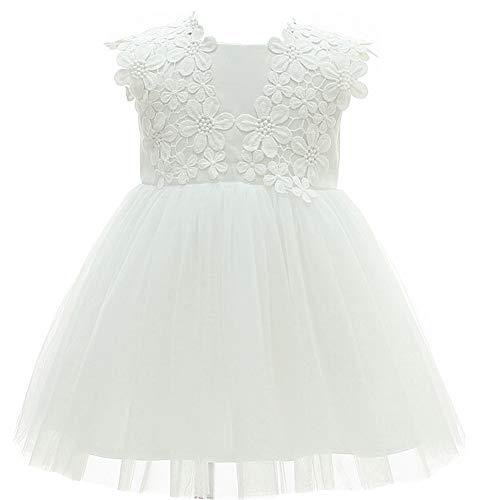 Monimo Baby MädchenTaufkleid Prinzessin Kleid Festlich Kleid Hochzeit Partykleid Festzug Babybekleidung