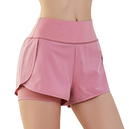 SKYSPER Pantalones Cortos Deportivos para Mujer Pantalón Corto Deportes Cintura Elástica Transpirable Secado Rápido para Yoga Playa Casuales Gimnasio Ejercicio Fitness Running Verano Tamaño S-L