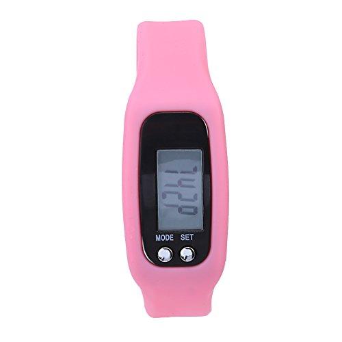 Cloudbox Pulsera inteligente Reloj Pulsera Contador de calorías Podómetro Deportes Fitness (rosa)