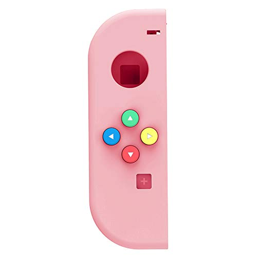 Yawenner NS Joycon Handheld Controller Housing, DIY Replacement Shell Case for Nintendo Switch Joy-Con (Left Only) Without Electronics (Left Macaron Pink)