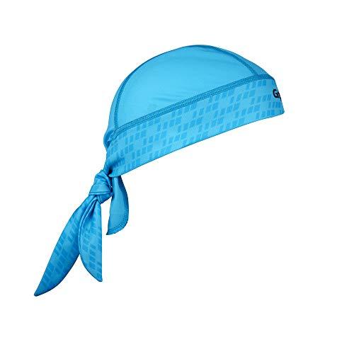 GripGrab Uniseks bandana voor volwassenen, multifunctioneel, zomer, sport, hoofddoek, dunne lichte onderhelm, fiets, zweetbescherming, UV-bescherming, muts, blauw, één maat (hoofdomtrek 54-63 cm)