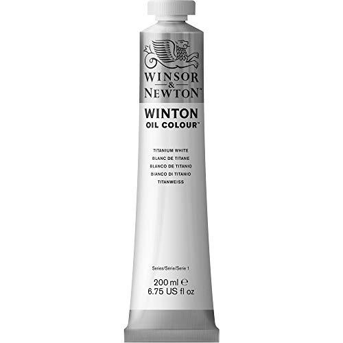 Winsor & Newton 1437644 Winton, feine hochwertige Ölfarbe - 200ml Tube mit gleichmäßiger Konsistenz, Lichtbeständig, hohe Deckkraft, Reich an Farbpigmenten - Titanweiß