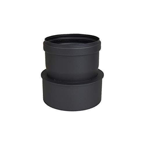 LANZZZAS Pellet Pellet rookpijp pelletkachel uitbreiding kleur zwart Ø 100 mm op Ø 120 mm