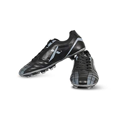 Vector X Speed Football Shoes (Black-Grey) (Size-10)