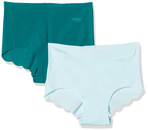 Sloggi Zero Modal H Short Culotte, Blu (Blue-Dark Combination M008), XL (Pacco da 2) Donna
