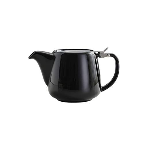 FABAX Tetera 580 ml Tetera Creativo nórdica Tetera de Gran Capacidad de Juego de té Conjunto Inicio de café del pote de cerámica con el Filtro de la Resistencia térmica Teteras (Color : Black)