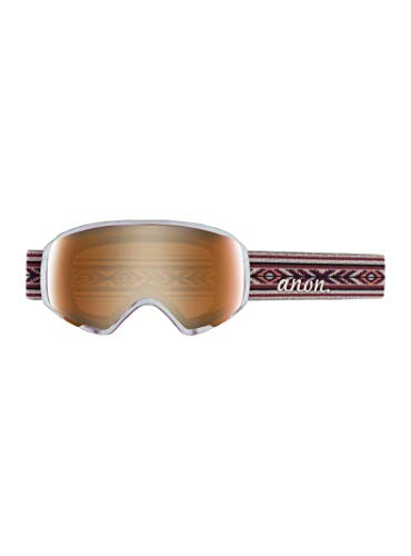 Anon Women's WM1 Goggle with Spare Lens, Digi Tiki Frame Pnk Cobalt Lens