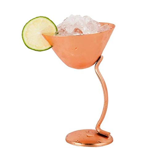 Roestvrijstalen cocktailglas Martini-beker Verkoperd wijnglas Rose Gold